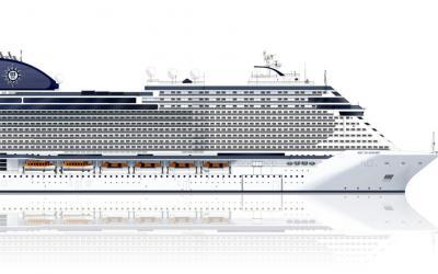 """Stahlschnitt auf der Fincantieri Werft: Mit der """"MSC Seashore"""" enthüllt MSC Cruises den Namen des ersten Seaside EVO Schiffes"""
