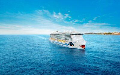 Aktueller Nachhaltigkeitsbericht von AIDA Cruises: 2018 ging mit AIDAnova das weltweit erste LNG-Kreuzfahrtschiff auf Reisen