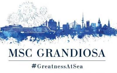 Die MSC Grandiosa, eines der umweltfreundlichsten Kreuzfahrtschiffe auf See, feiert ihren Erstanlauf in Hamburg