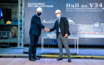 Stahlschnitt der MSC Euribia: MSC Cruises setzt mit dem zweiten LNG-Schiff der Flotte sein Engagement für einen nachhaltigen Schiffsbetrieb fort