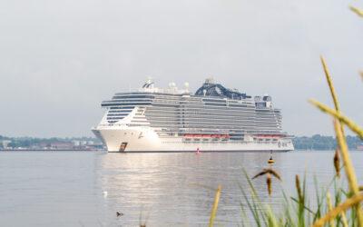 Die MSC Seaview erreicht Kiel und startet am 3. Juli ihre erste Ostsee-Kreuzfahrt