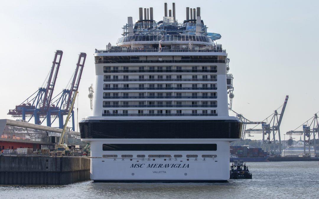 Rekordanlauf für Hamburg: Über 5000 Gäste an Bord der MSC Meraviglia