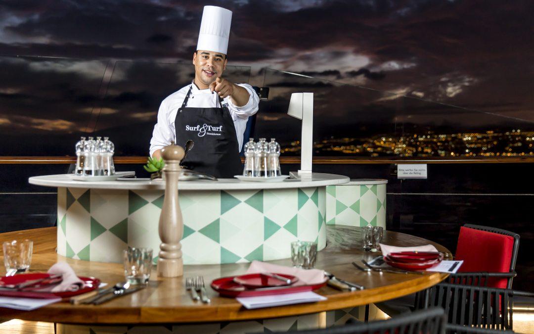 Einmalig in der Kreuzfahrtbranche: Ausbildung zum Koch w/m an Bord!