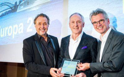 Kreuzfahrt Guide Awards 2018: MS EUROPA 2 zum sechsten Mal in Folge für gastronomisches Konzept ausgezeichnet