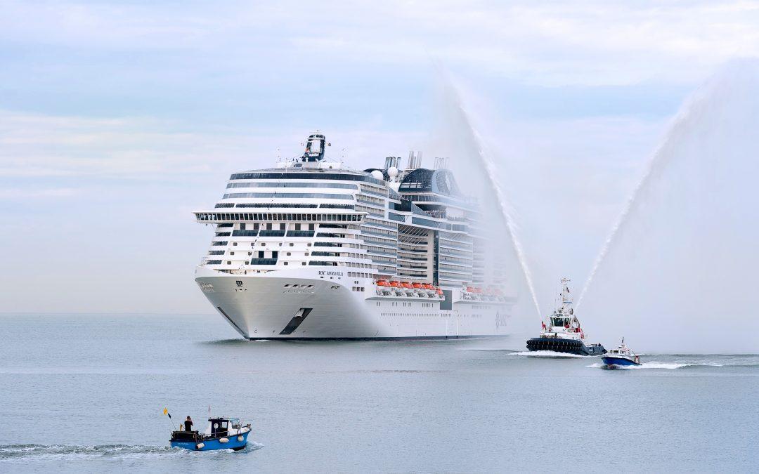 Saisonauftakt in Kiel: Die MSC Meraviglia feiert ihren Erstanlauf im neuen Heimathafen
