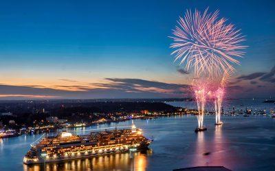 Großes AIDA Abschlussfeuerwerk auf der Kieler Woche 2019