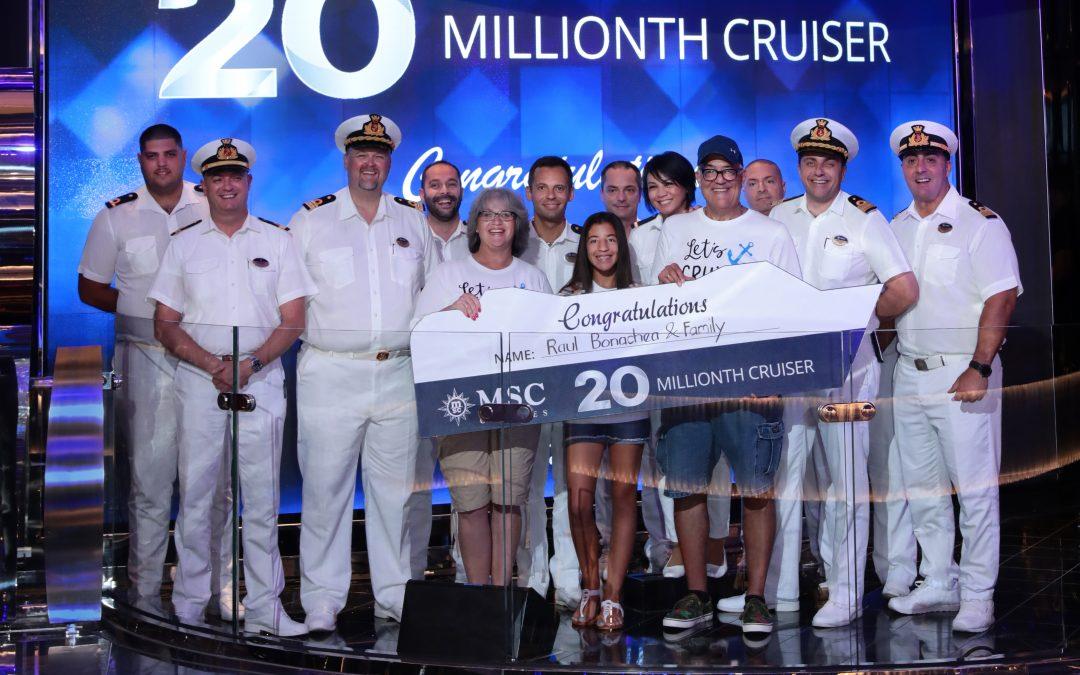 MSC Cruises feiert mit dem 20-millionsten Passagier einen Meilenstein in seinem globalen Wachstum