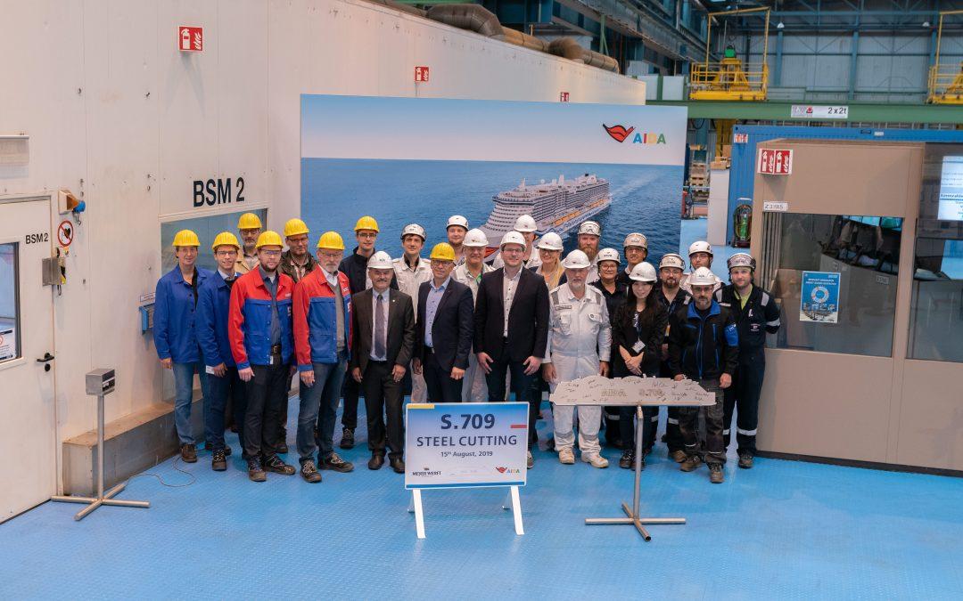 AIDA Cruises: Baustart für das zweite LNG-Kreuzfahrtschiff auf der Meyer Werft in Papenburg
