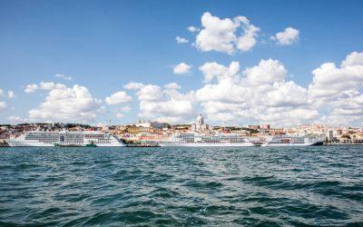 Bom dia Lisboa: Schiffstreffen hoch drei von Hapag-Lloyd Cruises in Lissabon