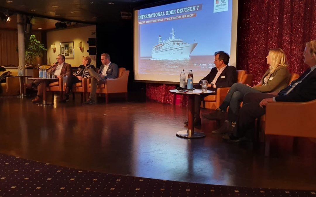 Kreuzfahrtexpertise und Netzwerken auf der ASTOR – Der 5. EBC Cruise Talk on Board