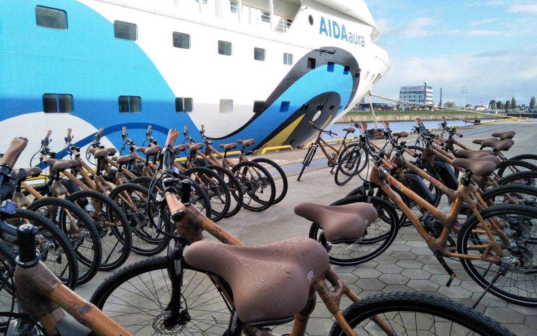 Mit Bambusrädern auf AIDA Weltreise