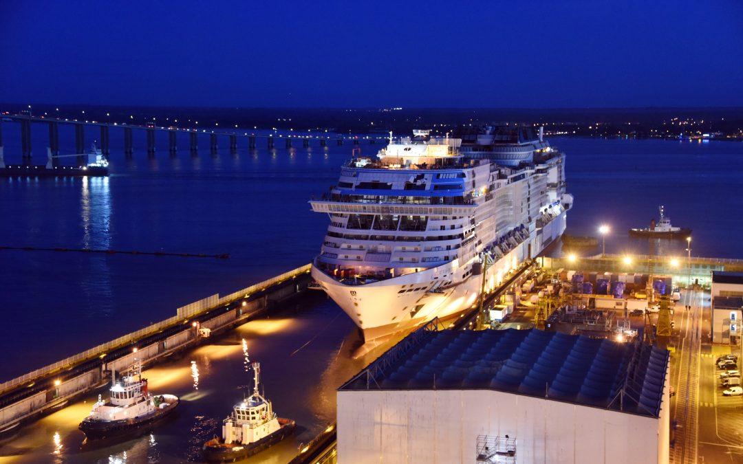 Aufschwimmen der MSC Virtuosa:  MSC Cruises feiert den dritten Meilenstein im Schiffsbau innerhalb weniger Wochen